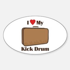 Suitcase Drum Love Decal