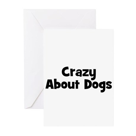 Crazy About Dogs Greeting Cards (Pk of 10)