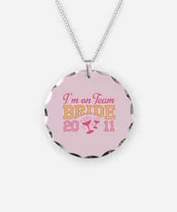 Champagne Team Bride Necklace