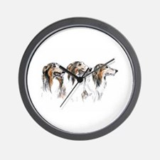 Wall Clock with Three Rough Collies