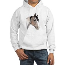 Hoodie with horse motif
