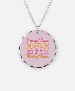 Champage Maid of Honor Necklace