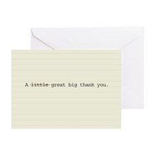 Little great big thank you cards (Pack of 10)