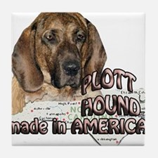 American Plott Hound Tile Coaster