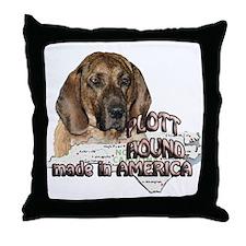 American Plott Hound Throw Pillow