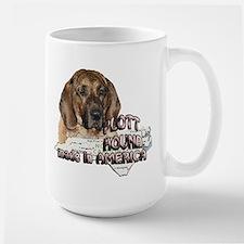 American Plott Hound Large Mug
