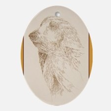 Afghan Hound Ornament (Oval)