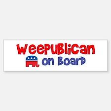 WeePublican on Board Bumper Bumper Bumper Sticker