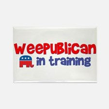 Weepublican in Training Rectangle Magnet