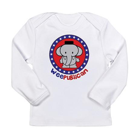 Cute Weepublican Long Sleeve Infant T-Shirt