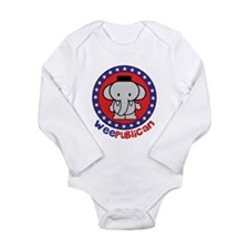 Cute Weepublican Long Sleeve Infant Bodysuit