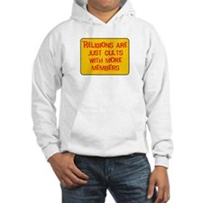 Religions are cults... Hoodie