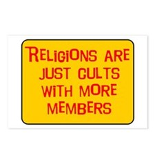 Religions are cults... Postcards (Package of 8)