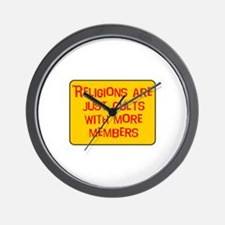Religions are cults... Wall Clock