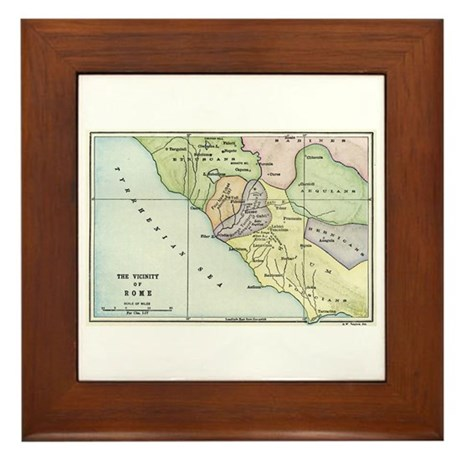 Ancient Rome and Environs (co Framed Tile