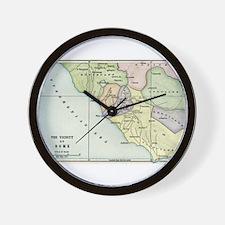 Ancient Rome and Environs (co Wall Clock