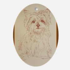 Yorkshire Terrier Ornament (Oval)