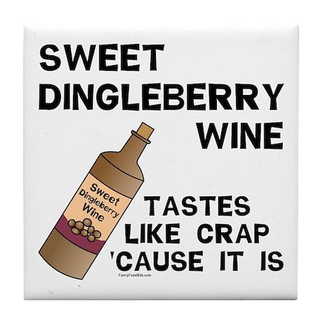 Dingleberry Wine Tile Coaster