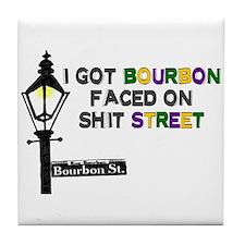 Cute Bourbon street Tile Coaster