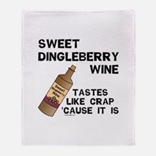 Dingleberry Wine Throw Blanket