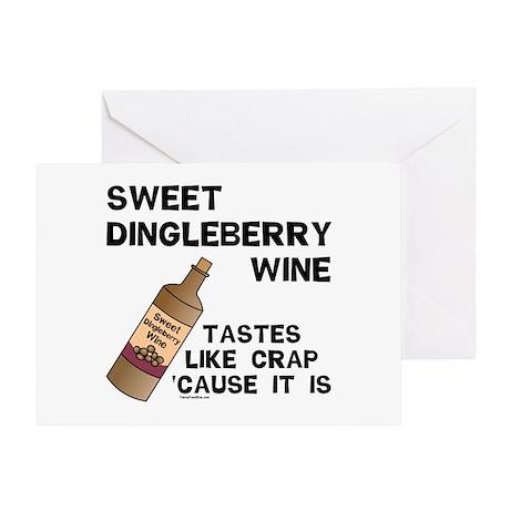 Dingleberry Wine Greeting Card