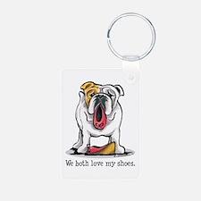 Bulldog Love Shoes Keychains