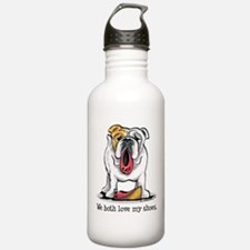 Bulldog Love Shoes Water Bottle