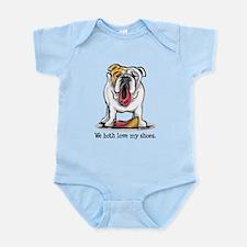 Bulldog Love Shoes Infant Bodysuit