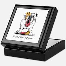 Bulldog Love Shoes Keepsake Box