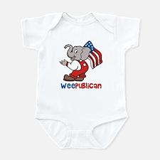 Weepublican & Flag Infant Creeper