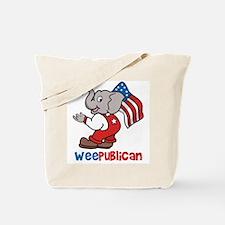 Weepublican & Flag Tote Bag