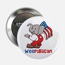 Weepublican & Flag Button