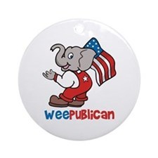 Weepublican and Flag Ornament (Round)