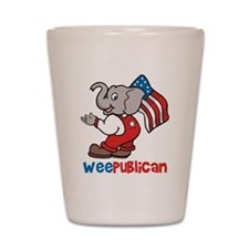 Weepublican and Flag Shot Glass