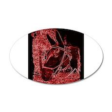 Red Mule 22x14 Oval Wall Peel