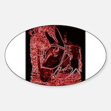 Red Mule Sticker (Oval)