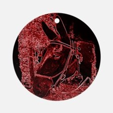 Red Mule Ornament (Round)
