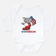 Weepublican and Flag Long Sleeve Infant Bodysuit