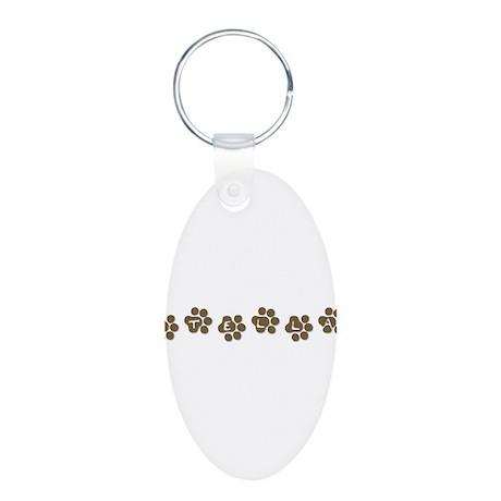 STELLA Aluminum Oval Keychain