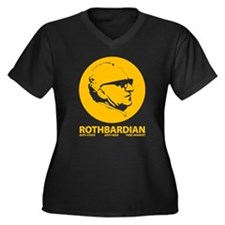 Rothbardian Women's Plus Size V-Neck Dark T-Shirt