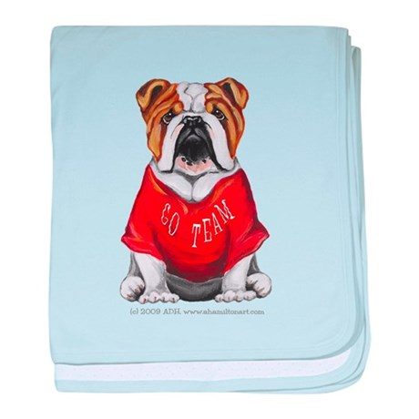Team Bulldog baby blanket