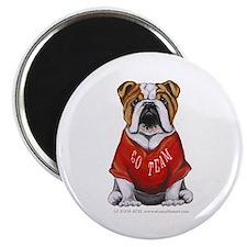 """Team Bulldog 2.25"""" Magnet (100 pack)"""