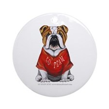 Team Bulldog Ornament (Round)