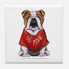 Team Bulldog Tile Coaster