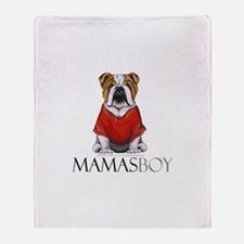 Mamas Boy Bulldog Throw Blanket