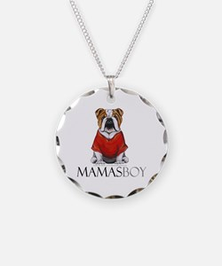 Mamas Boy Bulldog Necklace