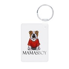 Mamas Boy Bulldog Keychains