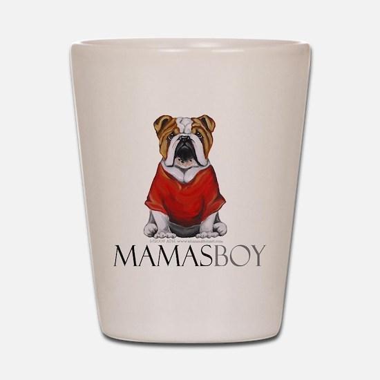 Mamas Boy Bulldog Shot Glass