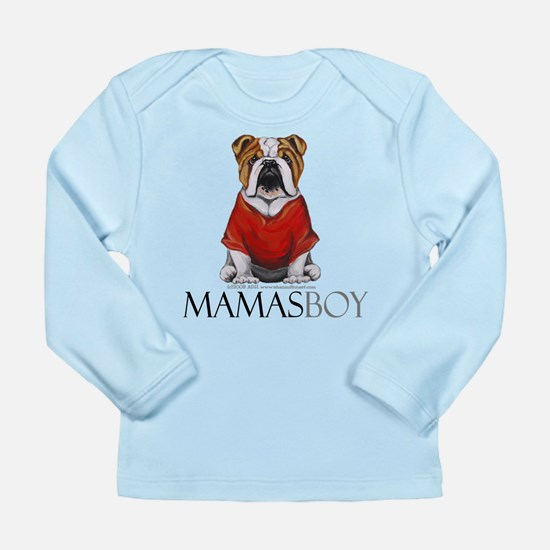 Mamas Boy Bulldog Long Sleeve Infant T-Shirt