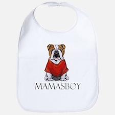 Mamas Boy Bulldog Bib